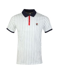 Fila Mens White BB1 Striped Polo Shirt