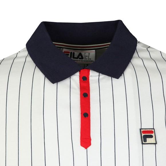 Fila Mens White BB1 Striped Polo main image