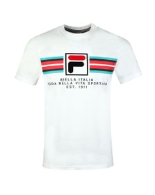 Fila Mens White F Box Graphic Tee