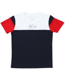 Lacoste Sport Boys White TJ5383 T Shirt