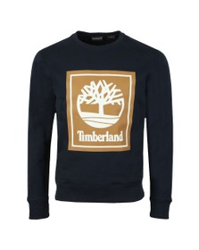 Timberland Mens Blue Stack Logo Sweat