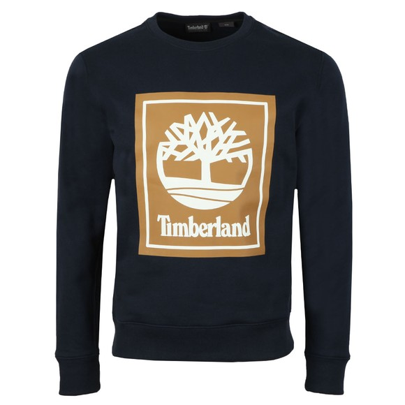Timberland Mens Blue Stack Logo Sweat main image