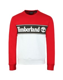 Timberland Mens Red Cut And Sew Sweat