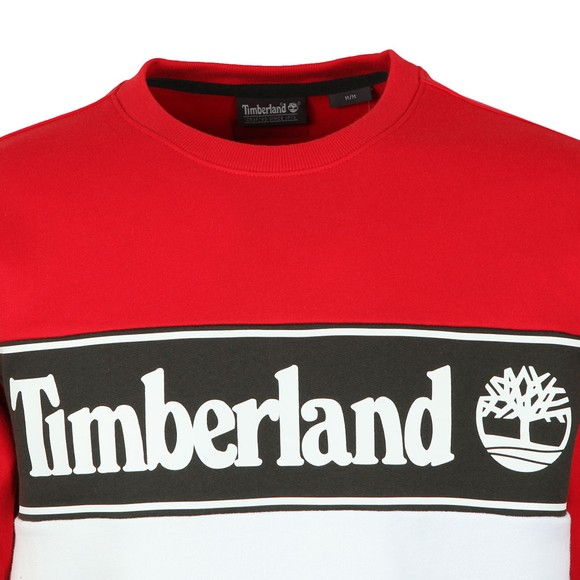 Timberland Mens Red Cut And Sew Sweatshirt main image