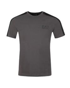 EA7 Emporio Armani Mens Grey Shoulder Detail T Shirt