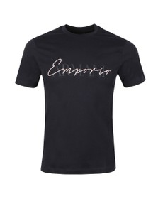 Emporio Armani Mens Blue Signature T Shirt