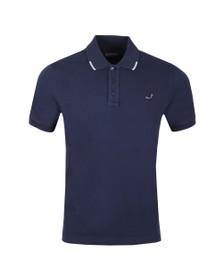 Jacob Cohen Mens Blue Pique Polo Shirt