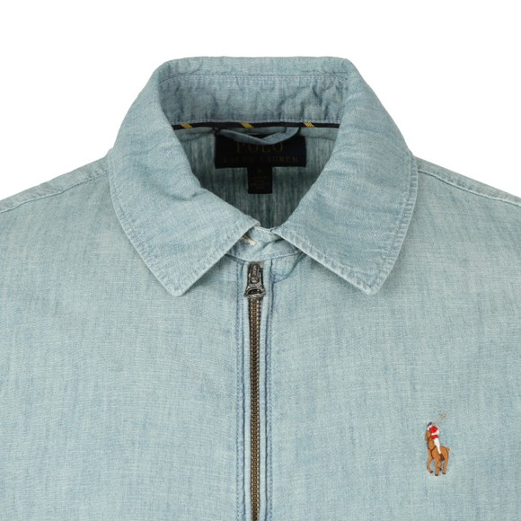Polo Ralph Lauren Mens Blue Bayport Chambray Overshirt main image