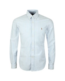Polo Ralph Lauren Mens Blue Slim Fit BD Stripe Oxford Shirt