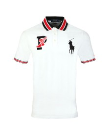 Polo Ralph Lauren Mens White Classic Fit P-Wing Mesh Polo