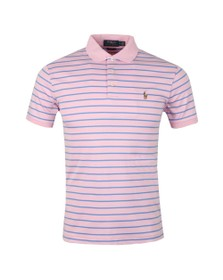 Polo Ralph Lauren Mens Pink Pima Cotton Stripe Polo Shirt