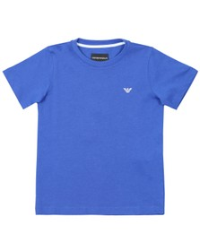Emporio Armani Boys Blue Small Logo T Shirt