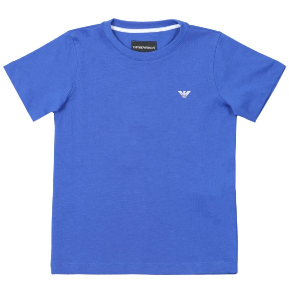 Emporio Armani Boys Blue Small Logo T Shirt main image