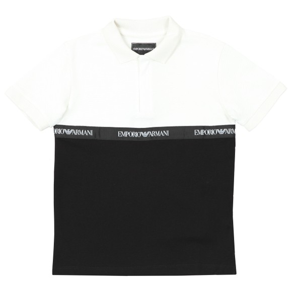 Emporio Armani Boys Black Tape Polo Shirt