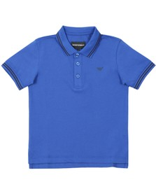 Emporio Armani Boys Blue Tipped Polo Shirt