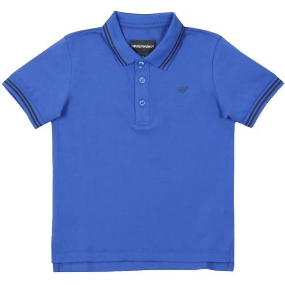 Emporio Armani Boys Blue Tipped Polo Shirt
