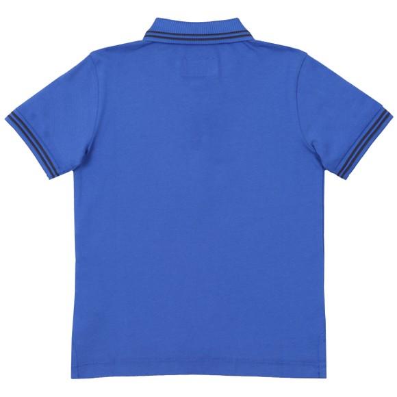 Emporio Armani Boys Blue Tipped Polo Shirt main image
