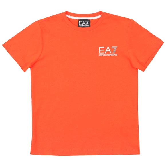 EA7 Emporio Armani Boys Orange Small  Logo T Shirt main image