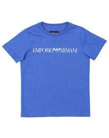 Emporio Armani Boys Blue Script Logo T Shirt