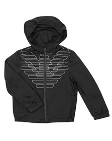 Emporio Armani Boys Black Eagle Logo Jacket