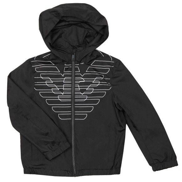 Emporio Armani Boys Black Eagle Logo Jacket main image