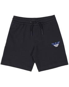 Emporio Armani Boys Blue Eagle Logo Jersey Short