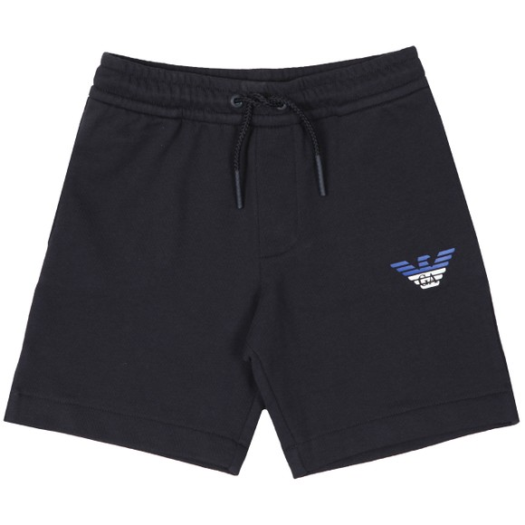 Emporio Armani Boys Blue Eagle Logo Jersey Short