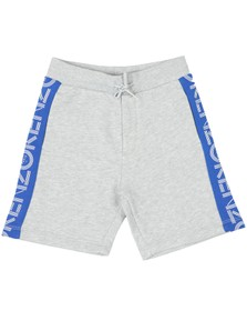 Kenzo Kids Boys Grey Tape Logo Sweat Short