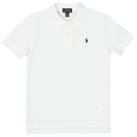 Polo Ralph Lauren Boys White Pique Polo Shirt