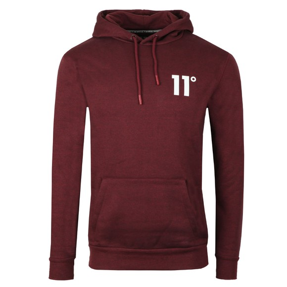 Eleven Degrees Mens Red Pull Over Hoodie main image