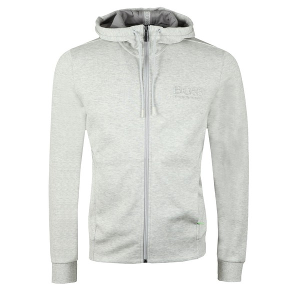 BOSS Mens Grey Athleisure Reflective Logo Saggy Hoody