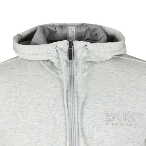 BOSS Mens Grey Athleisure Reflective Logo Saggy Hoody main image