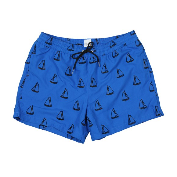 PS Paul Smith Mens Blue Embroidered Swim Short