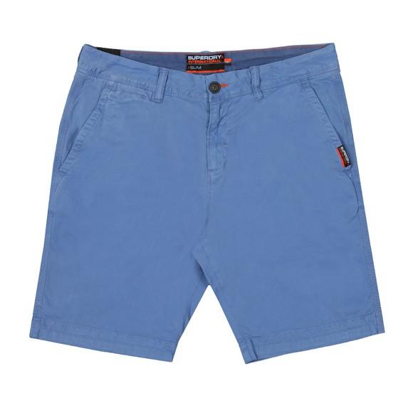 Superdry Mens Blue International Slim Chino Lite Short main image