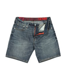 Superdry Mens Blue Conor Taper Denim Short
