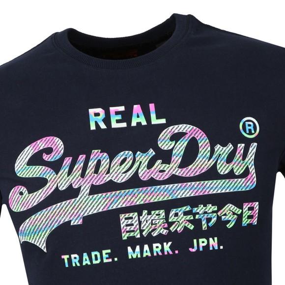 Superdry Mens Blue Vintage Logo Muilti Colour Tee main image