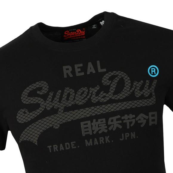 Superdry Mens Black Logo Monochrome Tee main image
