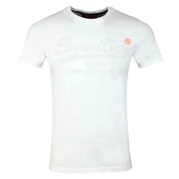 Superdry Mens White Logo Monochrome Tee main image
