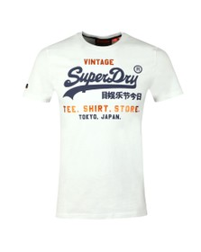 Superdry Mens White Shirt Shop Tee