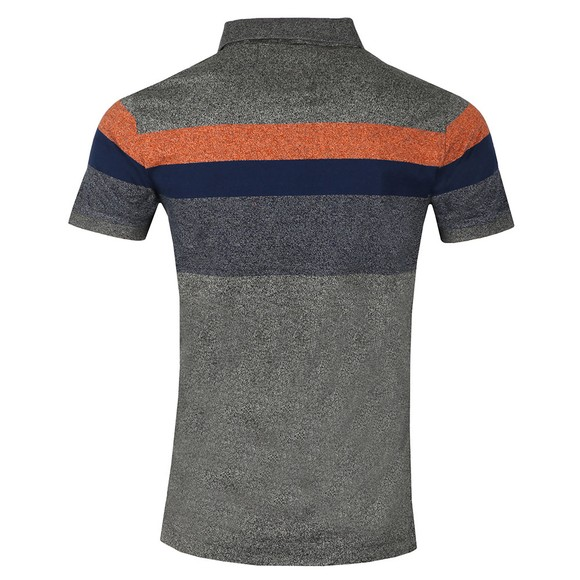Superdry Mens Grey Miami Feeder Polo main image