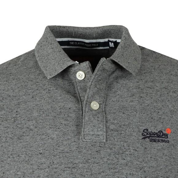 Superdry Mens Grey Classic Pique Polo main image
