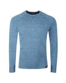 Superdry Mens Blue Garment Dyed LA Sweat