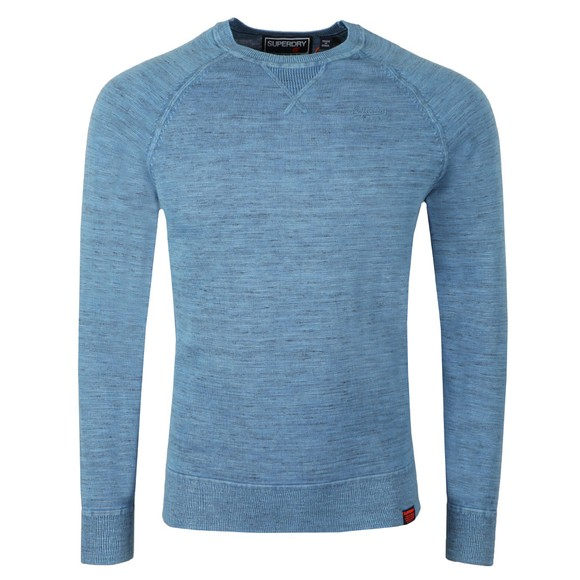 Superdry Mens Blue Garment Dyed LA Sweat main image