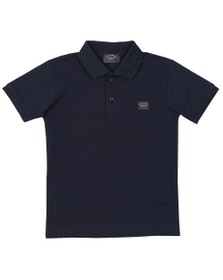 Paul & Shark Cadets Boys Blue Chest Badge Polo Shirt