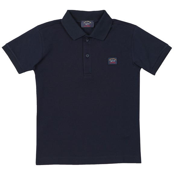 Paul & Shark Cadets Boys Blue Chest Badge Polo Shirt main image