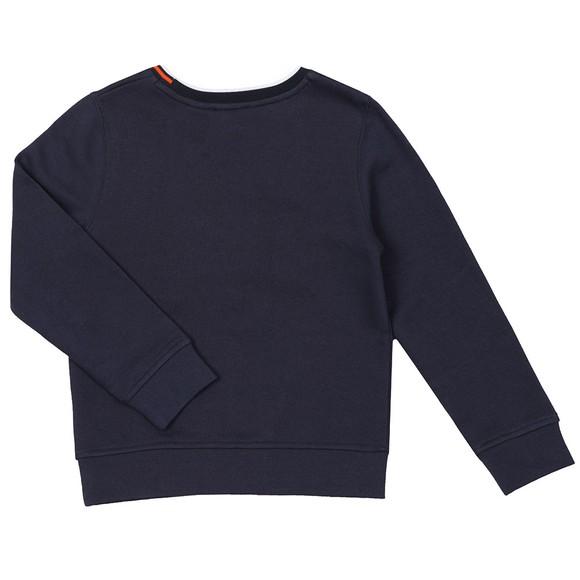 BOSS Boys Blue Large Logo Sweatshirt main image