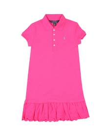 Polo Ralph Lauren Girls Pink Eyelet Polo Dress