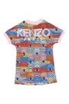 Kenzo Kids Girls Blue V Neck Wax Kenzo Sweatshirt Dress