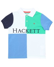 Hackett Boys Green Quad Polo Shirt