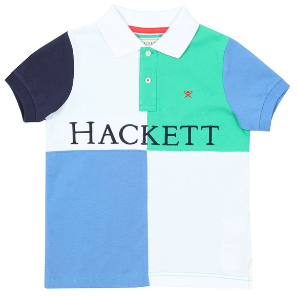 Hackett Boys Green Quad Polo Shirt main image